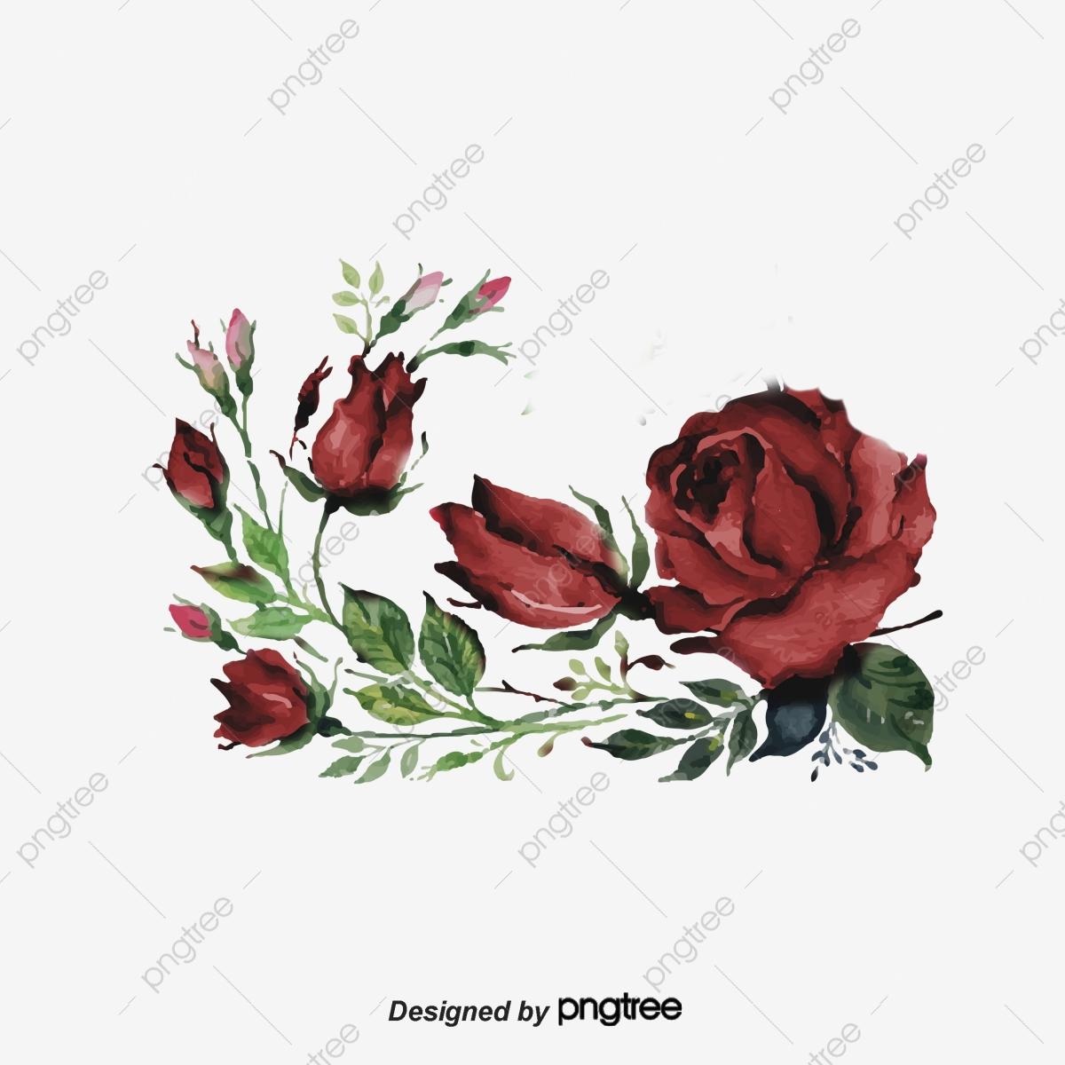 Dark Red Burgundy Flower Cluster Lace, Originality, Burgundy, Hand.