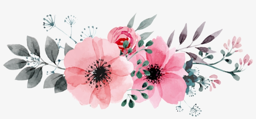 Watercolor Flowers PNG Images.