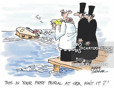 Sea Burial Cartoons and Comics.