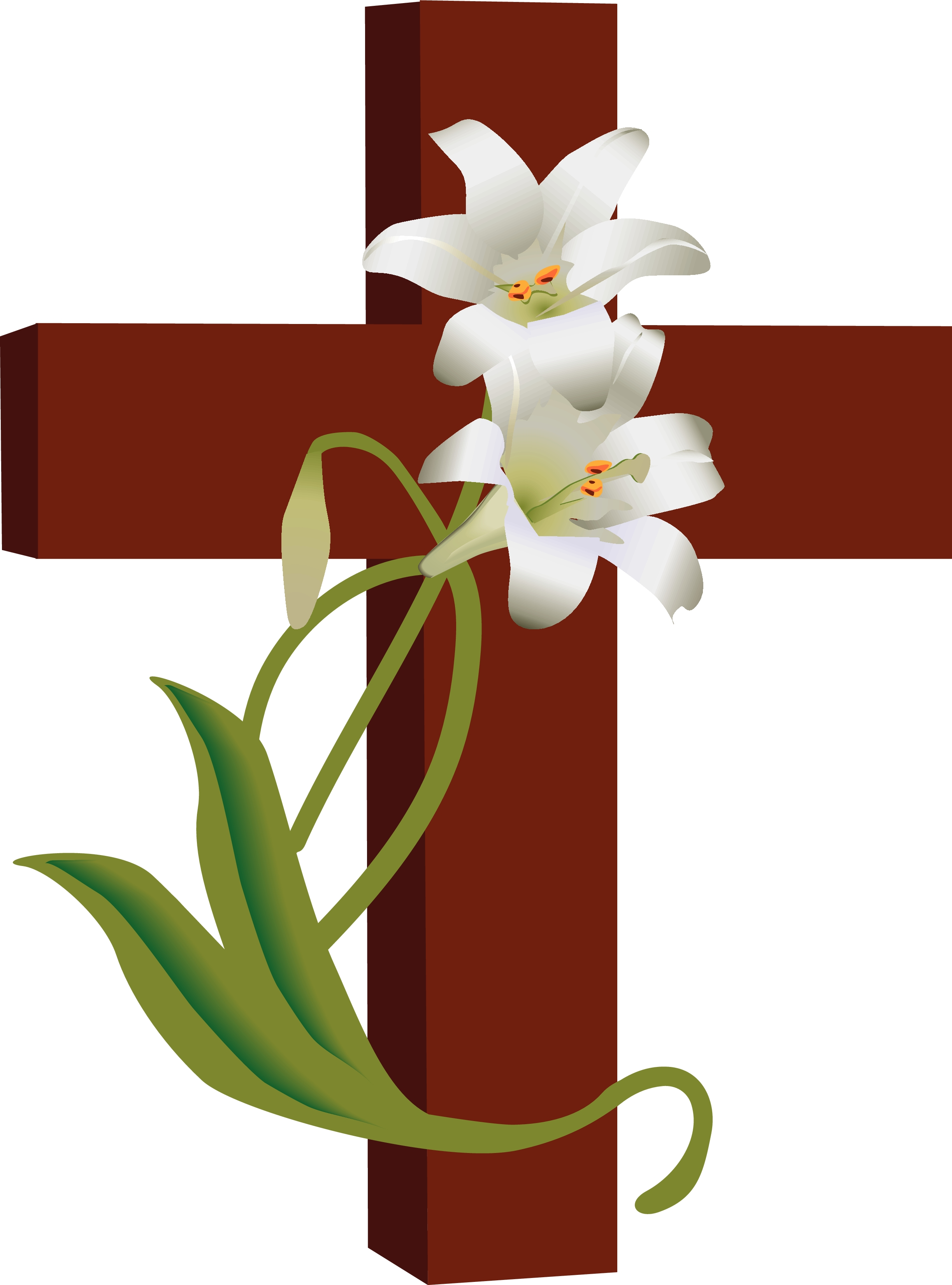 Christian Burial Symbols Clipart.
