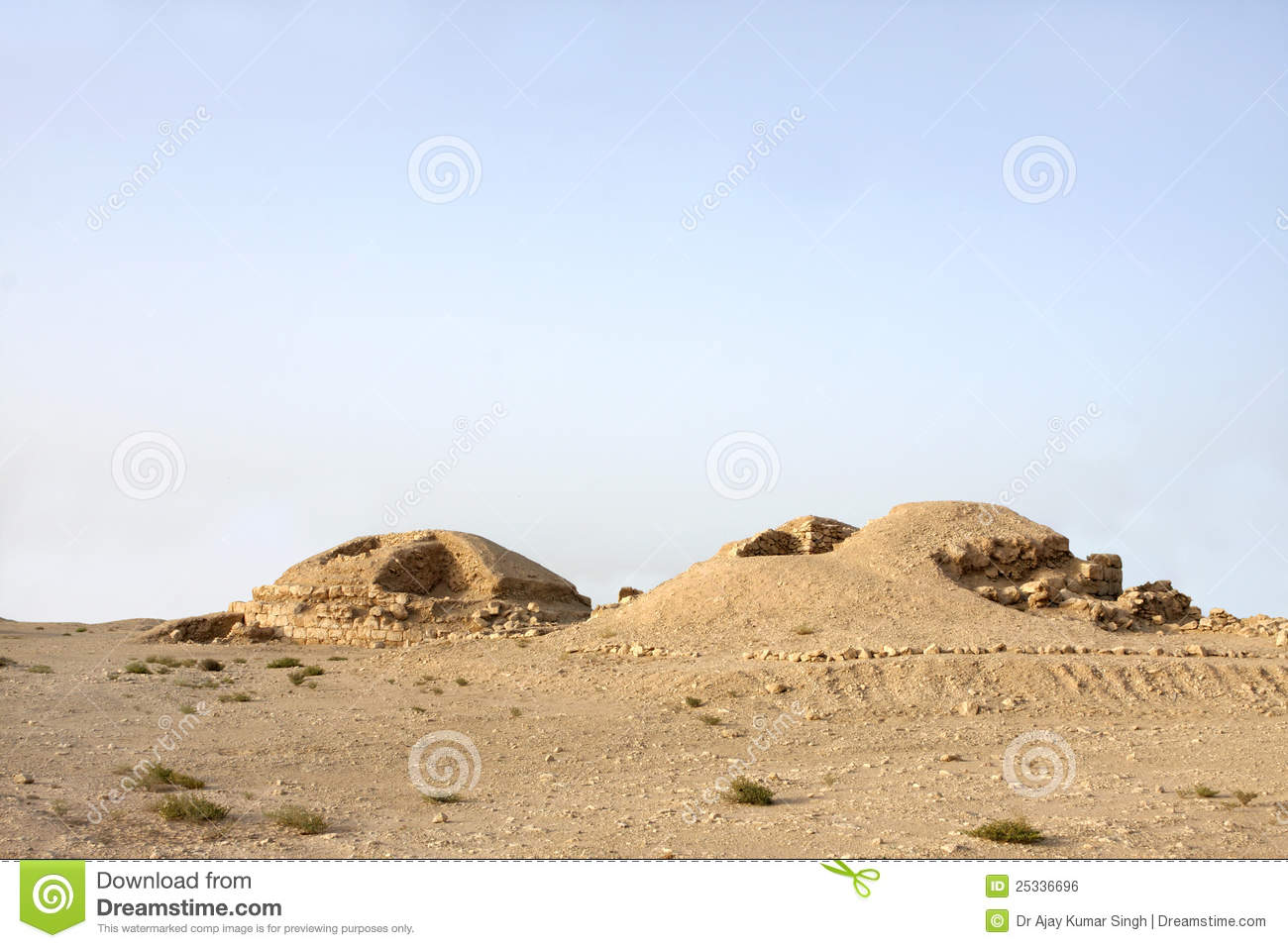 Partial Excavated Burial Mound In Saar Village Stock Photography.