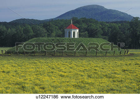 Stock Images of indian mounds, burial ground, North Georgia, GA.