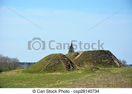 Stock Photos of Burial mound.