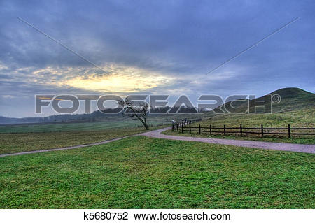 Stock Photo of Burial mounds in Sweden k5680752.