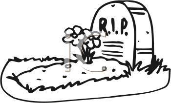 Free clipart animated for a grave.