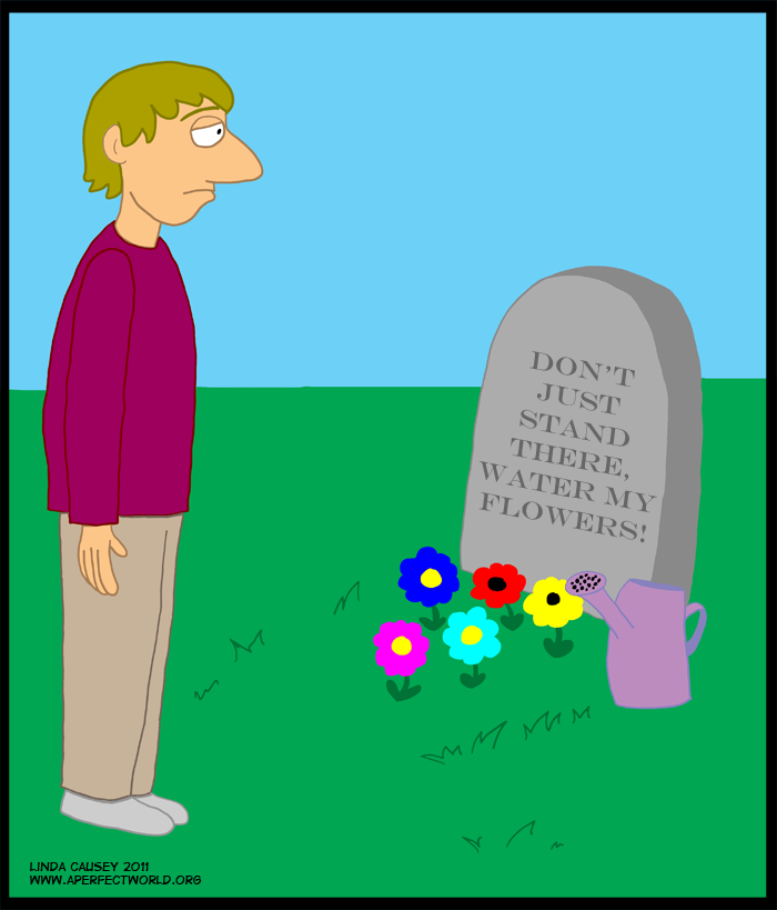 Flowers At A Grave Clipart.