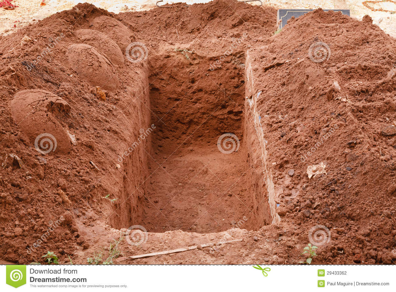 Open Grave Stock Photography.