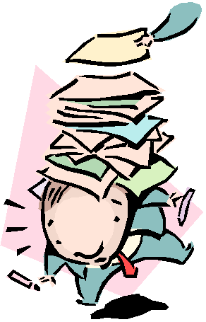 Buried in work clipart.