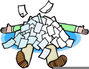 Buried Under Paperwork Clipart.
