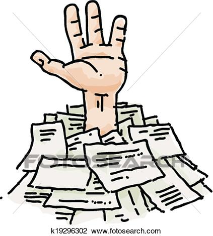 Buried in Paperwork Clipart.