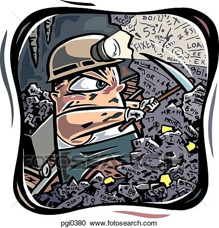 Drawing of a worker buried in paperwork Clipart.