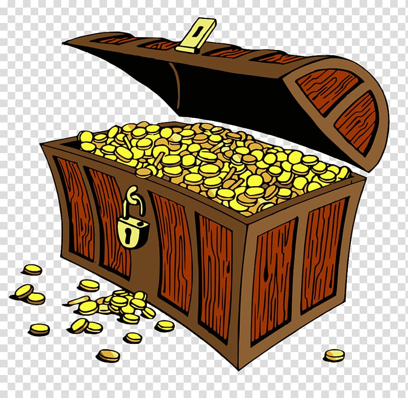 Buried treasure , treasure chest transparent background PNG clipart.
