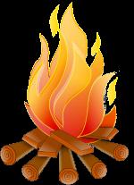Burning clipart.