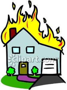 Burning House Clipart.