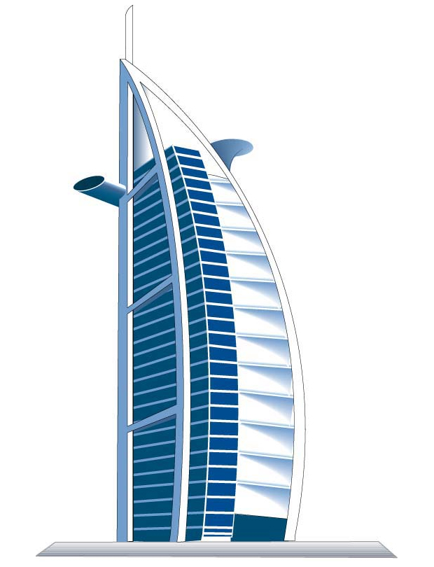 Burj al arab clip art.