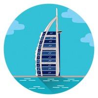 Free Burj al arab hotel Vector Image.