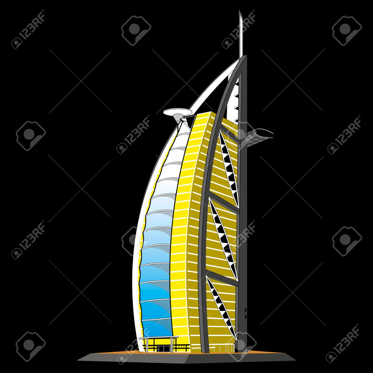 Hotel Burj Al Arab, Dubai Royalty Free Cliparts, Vectors, And.