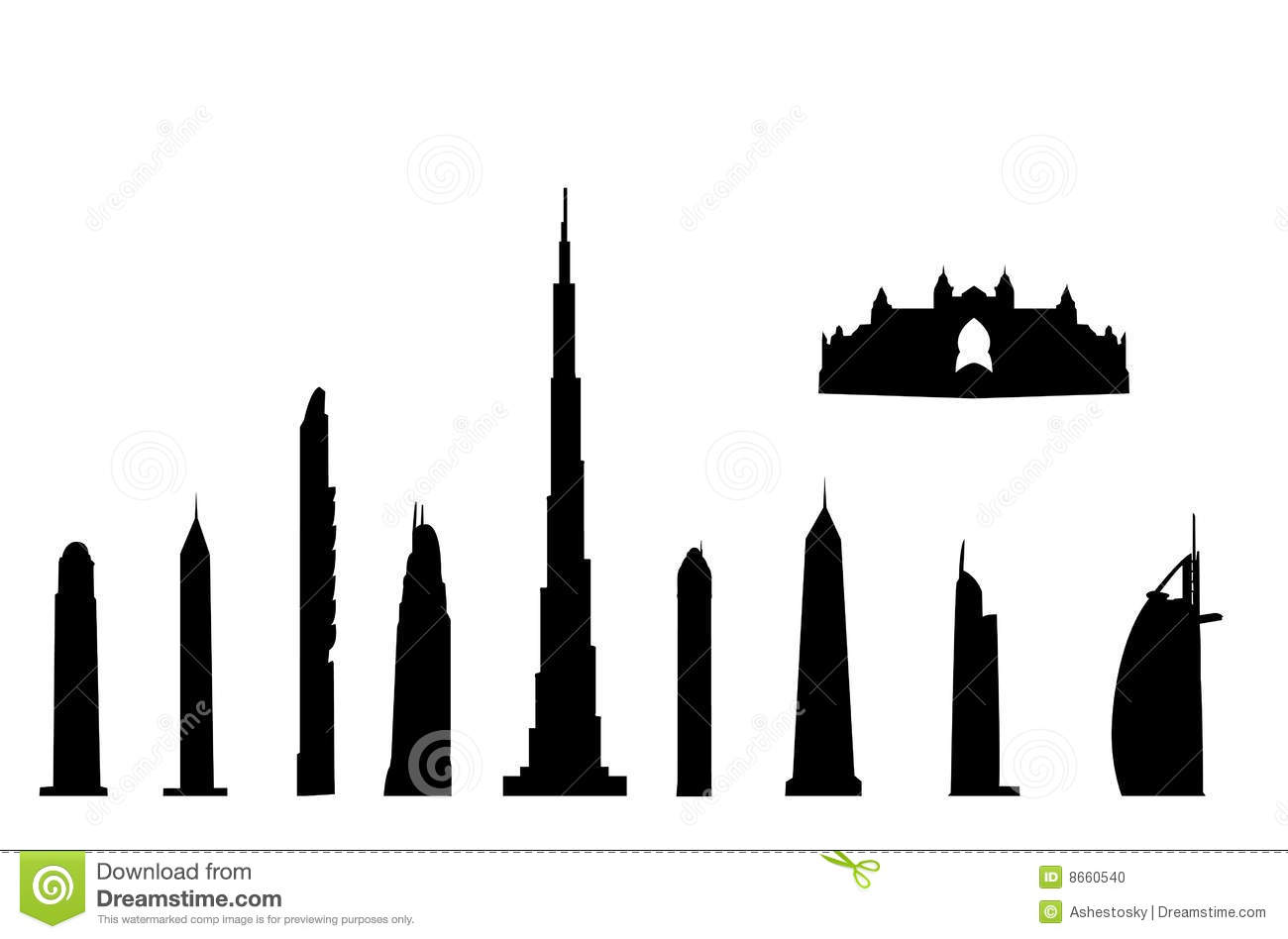 Burj Stock Illustrations.