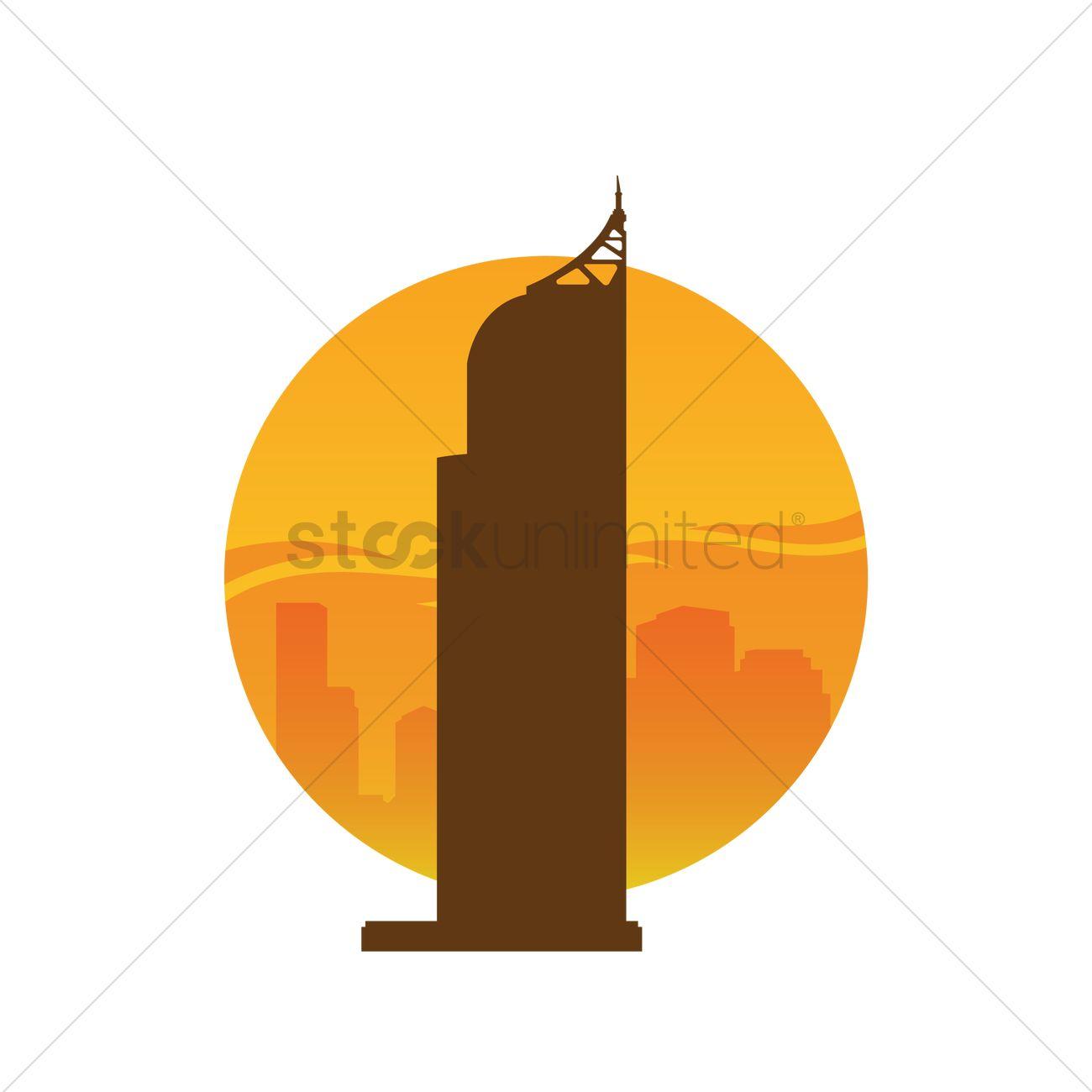 Burj khalifa Vector Image.