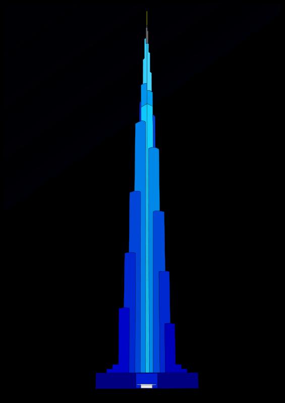 Burj Khalifa Clipart.