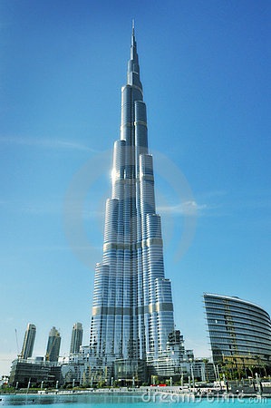 Burj Khalifa In Dubai Royalty Free Stock Photo.
