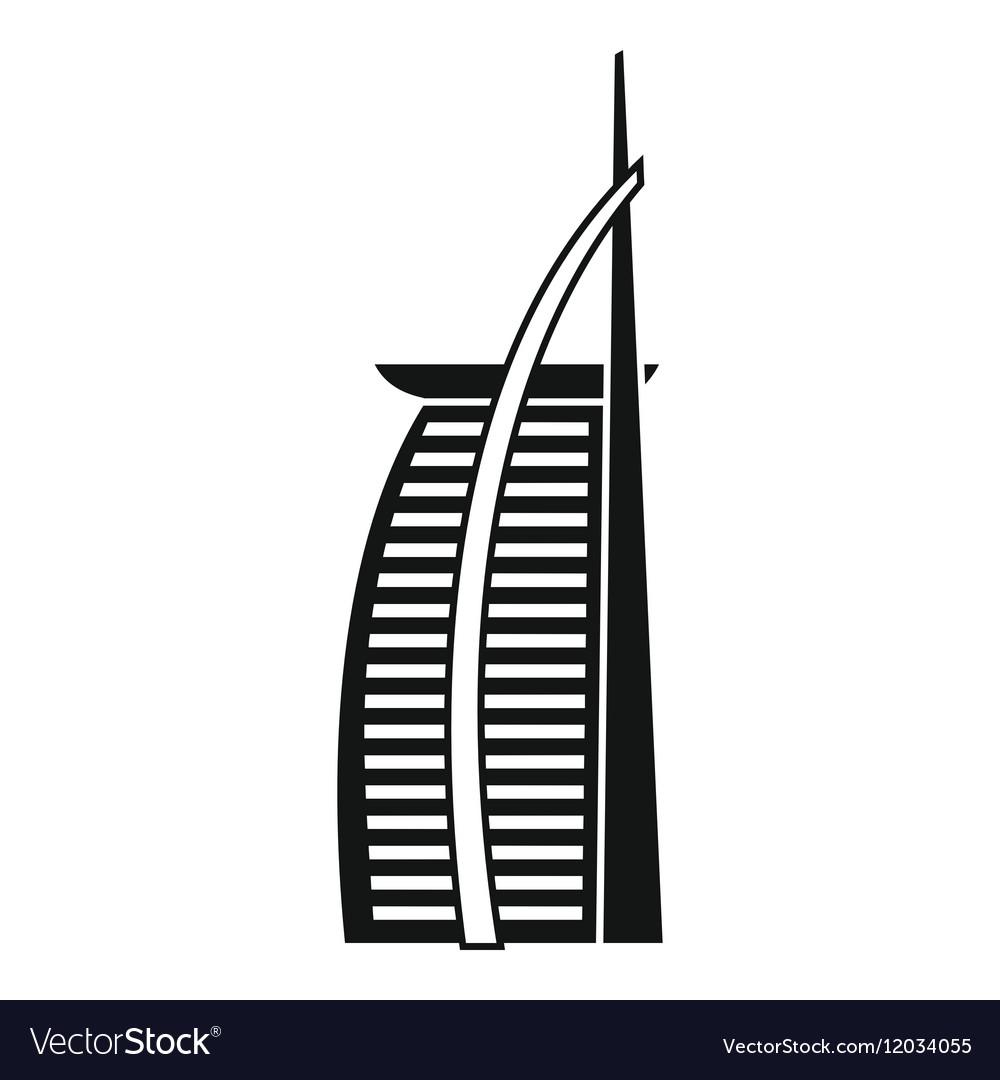 Hotel Burj Al Arab in United Arab Emirates icon.