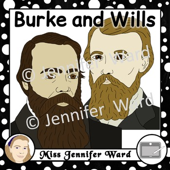 Burke and Wills Clipart by Miss Jennifer Ward.
