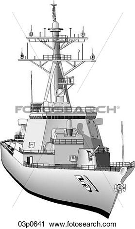 Clipart of 3d arleigh burke ddg 03p0641.