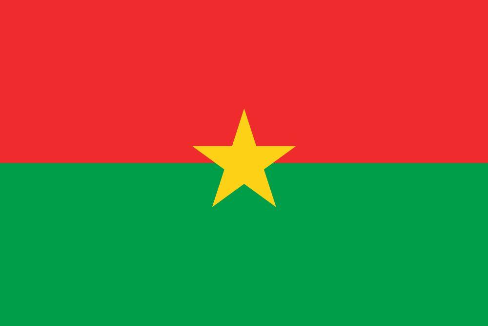 Burkina faso flag clipart.