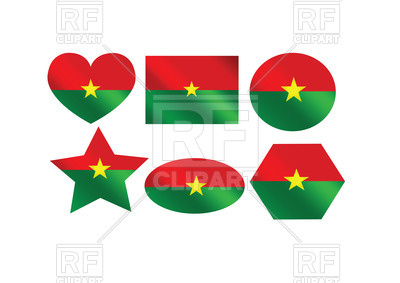 Design elements with Burkina Faso flag Vector Image #68029.