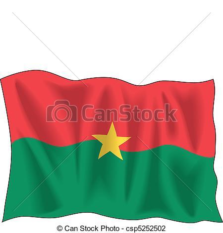 Vector Illustration of Burkina Faso flag.