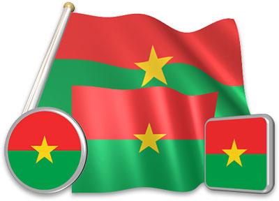 Flag of Burkina Faso.