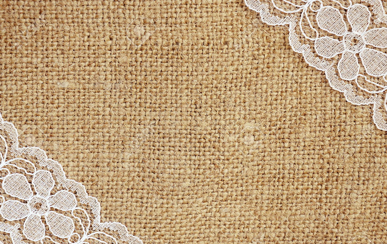 Burlap And Lace Clipart.