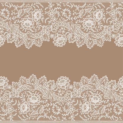 Lace Clip Art, Vector Image Illustrations.