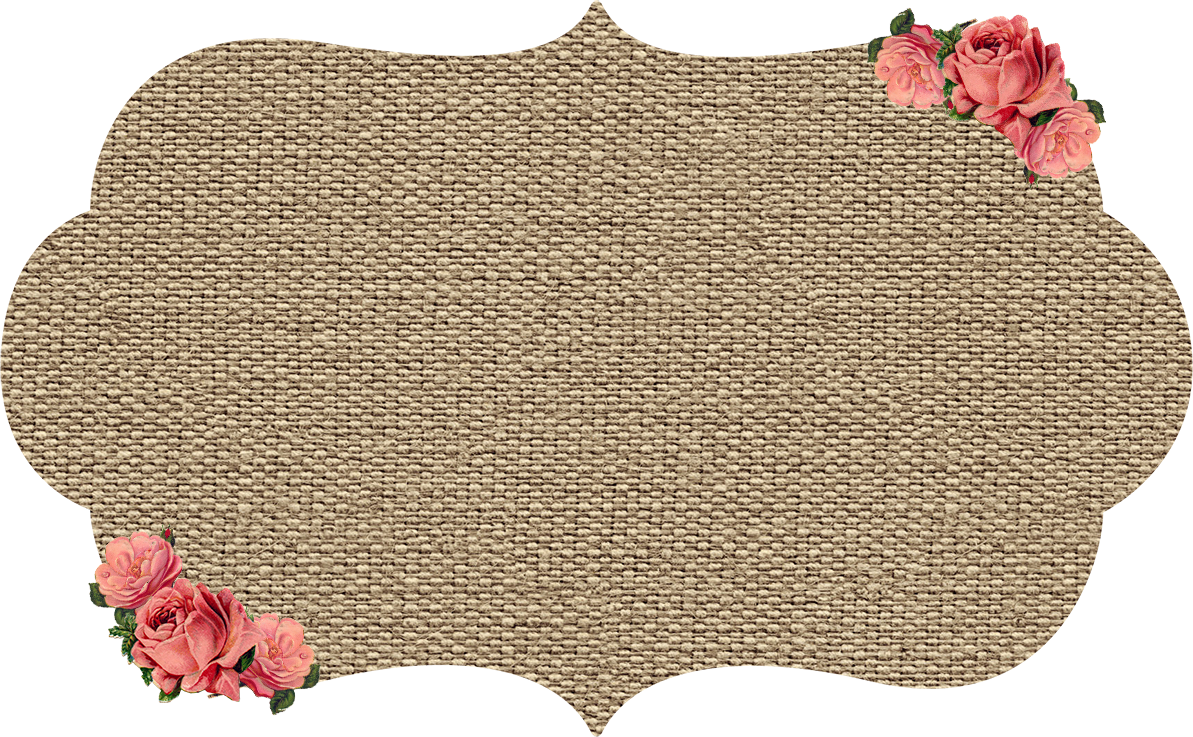 My Gift To You Burlap Kraft Shabby Frames Clip Art With Roses