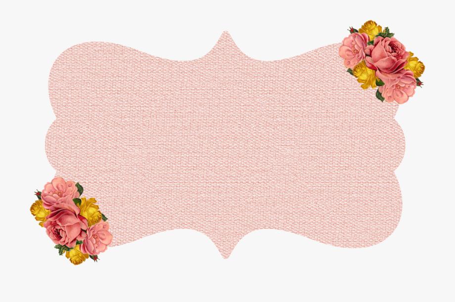Burlap & Kraft Shabby Frames Clip Art With Roses.