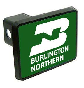 Details about Burlington Northern Logo Train Trailer Hitch Cover.
