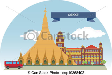 Yangon Vector Clipart Royalty Free. 48 Yangon clip art vector EPS.