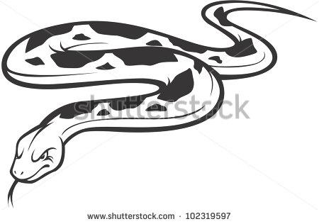 Burmese Python Clipart.