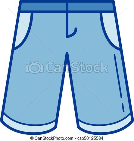 Bermuda shorts line icon..