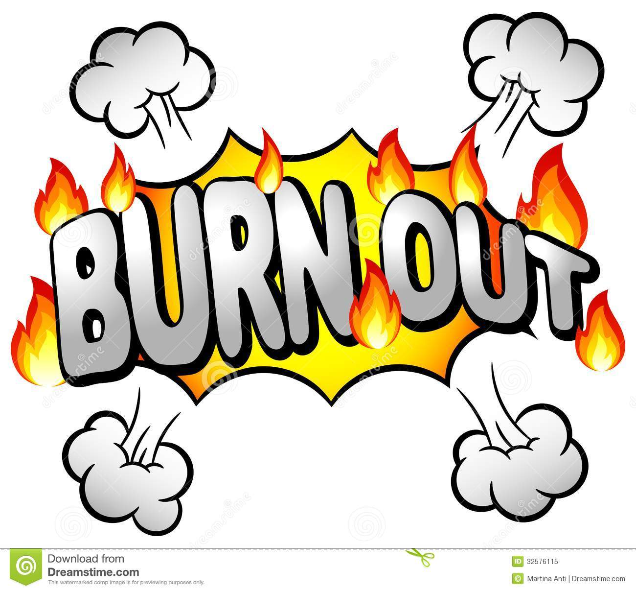 Burnout Clipart.