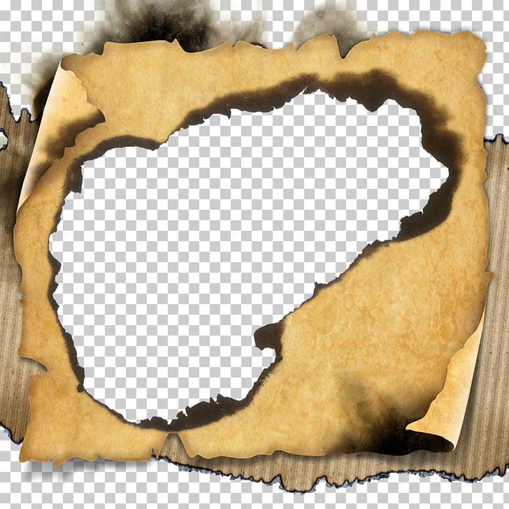 Paper, Burn old paper, brown scroll PNG clipart.