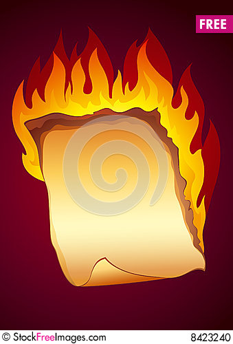 Burning Paper Clipart.
