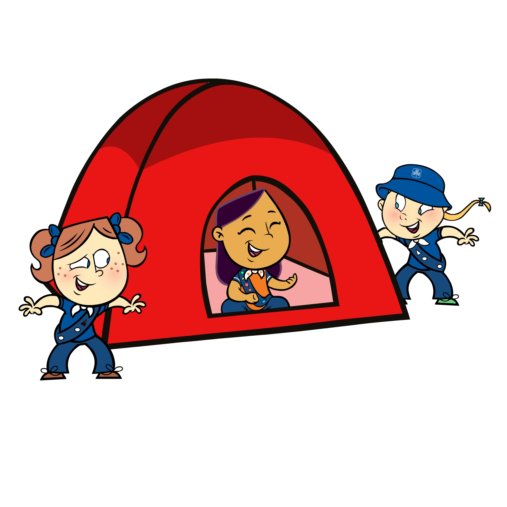 Clipart Girl At A Campfire