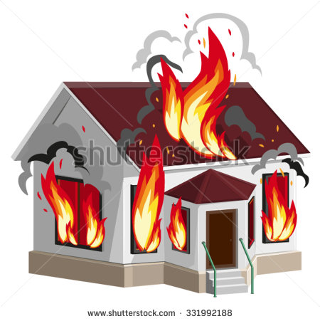 Showing post & media for Cartoon burned house.