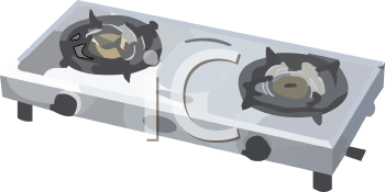 Stove Top Burners Clipart.