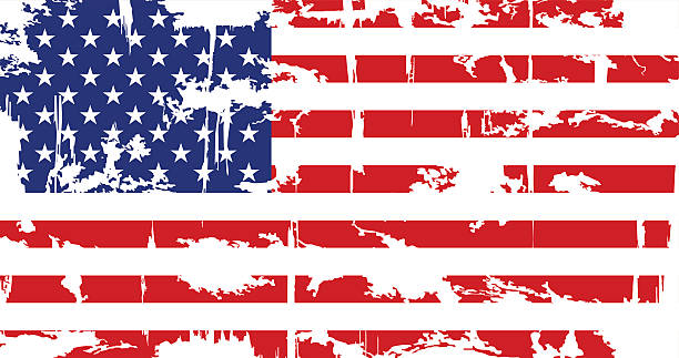 Burned American Flag Clip Art, Vector Images & Illustrations.