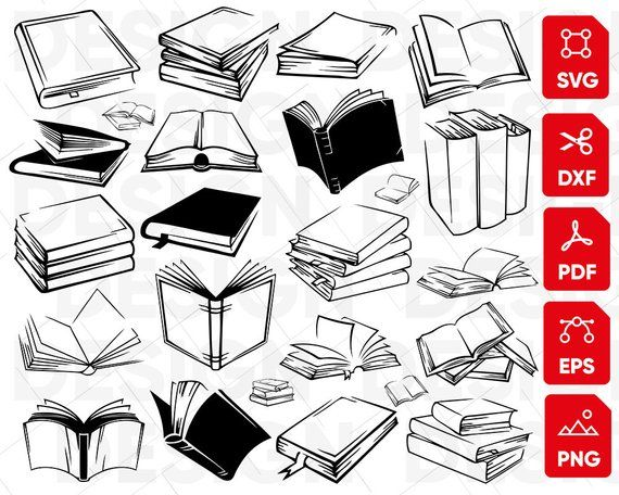 Open book svg, book svg bundle, book clipart, reading svg.