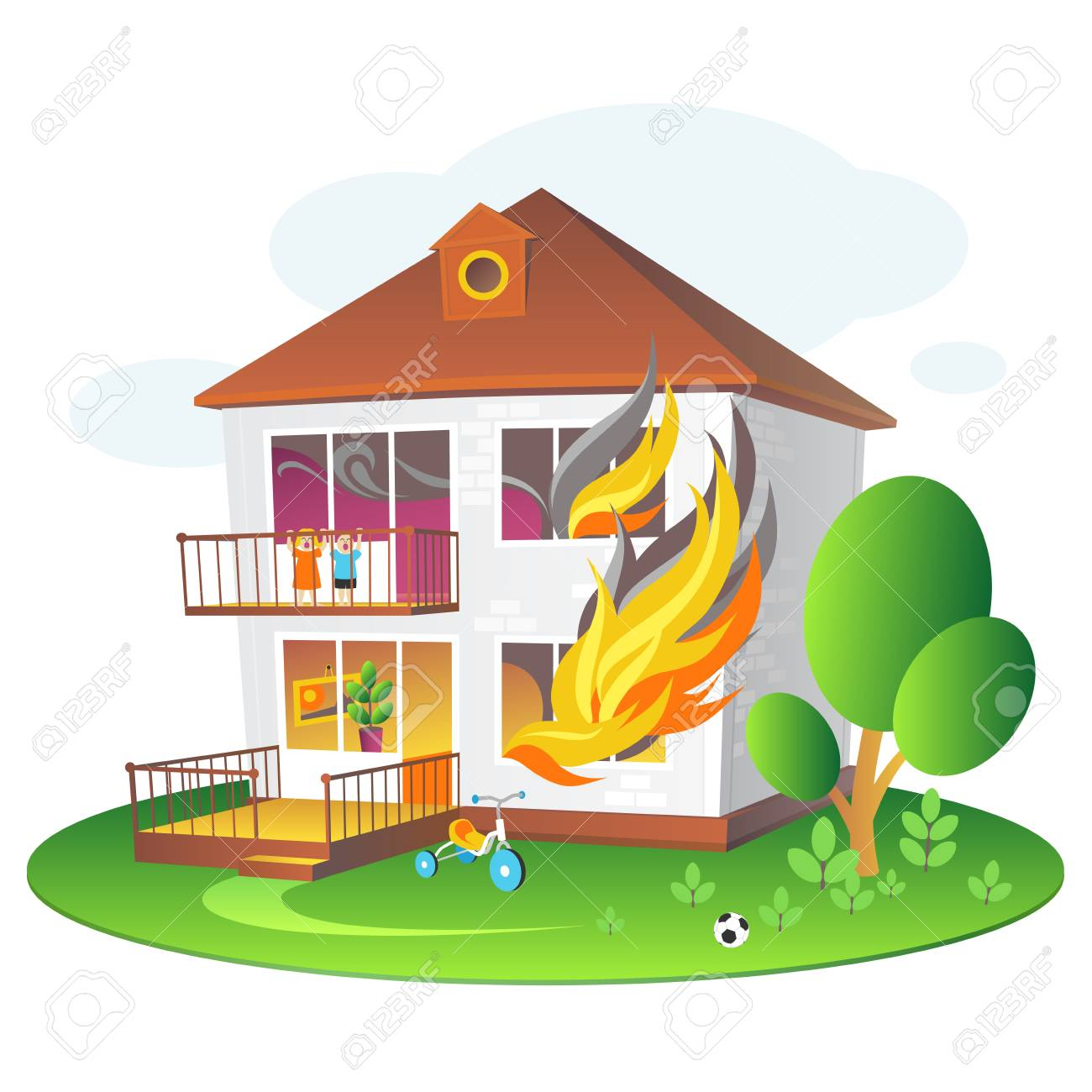 Burning house clipart 6 » Clipart Station.
