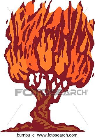 Burning Bush Clipart.
